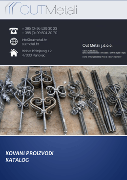 Katalog kovani elementi