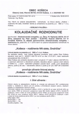 20160510 Rozšírenie NN siete Ondrička