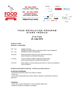 Program  - Food Revolution Day Slovakia