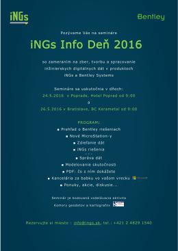 iNGs Info Deň 2016