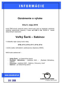 Oznámenie o výluke PDF