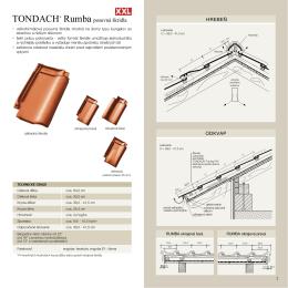 TONDACH® Rumba posuvná škridla