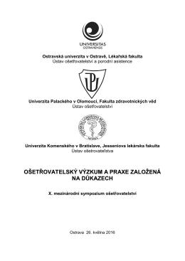Program - konference.osu.cz - Ostravská univerzita v Ostravě