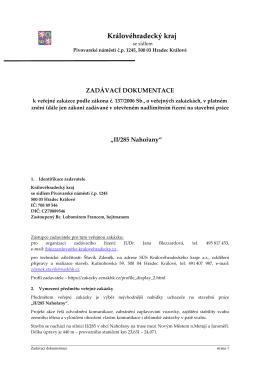 Zadávací dokumentace IROP Nahořany