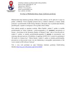 Izveštaj sa Međundarodnog skupa studenata geodezije