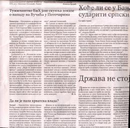 Page 1 Тужилаштво БиХ још скупља доказе о нападу на Вучића у