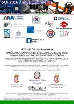 ISCP 2016 Godišnja konferencija NAUČNO
