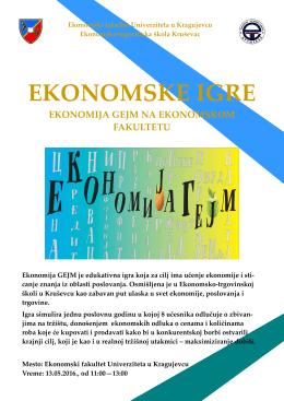 Poster - Ekonomski fakultet u Kragujevcu