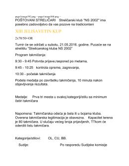 preuzeti poziv turnir u organizaciji SK NS 2002