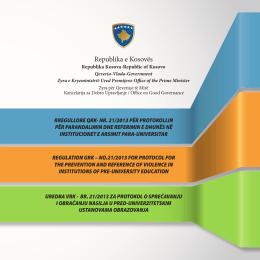 nr. 21/2013 për protokollin për parandalimin dhe referimin e dhunës
