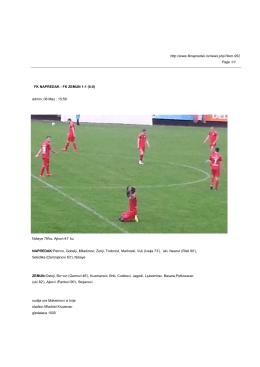FK NAPREDAK - FK ZEMUN 1-1 (0-0)