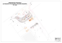 urbanistički projekat autobusko stajalište u velikom gradištu r=1:200
