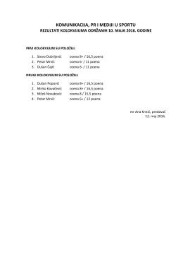 Резултати колоквијума из Комуникације, Пр, 10.5.