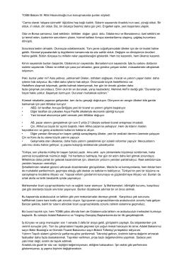 Türkiye Odalar ve Borsalar Birliği Başkanı M.Rifat