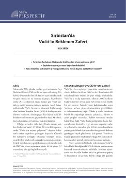Sırbistan`da Vučić`in Beklenen Zaferi