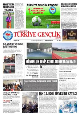 pazartesi - Türkiye Gençlik Konseyi Gazetesi