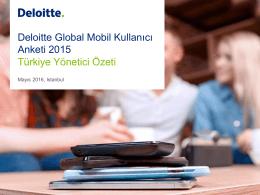 Deloitte Global Mobil Kullanıcı Anketi
