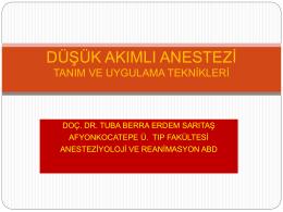 Doç. Dr. Tuba Berra Sarıtaş - IV. Abant Anestezi Sempozyumu