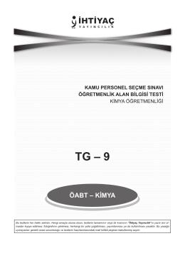 Kimya Öğretmenliği TG_9