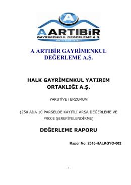 ekspertiz raporu - Halk Gayrimenkul Yatırım Ortaklığı A.Ş.