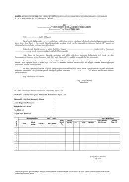 Ġstisna belgesinin, geçerli olduğu altı aylık üretim dönemi ile birlikte