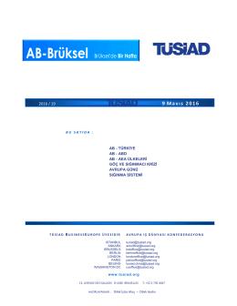 TUSIAD BXL 09 05 2016