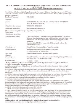 Bilecik Merkez 2, Jandarma Eğitim Tugay Komutanlığı Yeni İçme ve