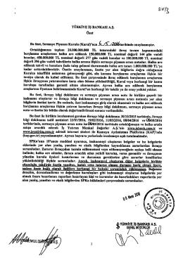 d. TÜRKİYE iş BANKASI A.Ş. ip 7NELMODORL96Q