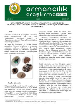 araştırma bülteni - Orman Genel Müdürlüğü