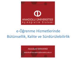 Abdulkadir KARADENİZ_Anadolu Universitesi