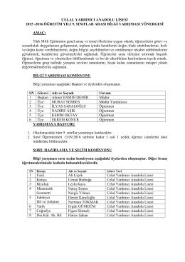9. sınıflar arası bilgi yarışması yönergesi 2016-05