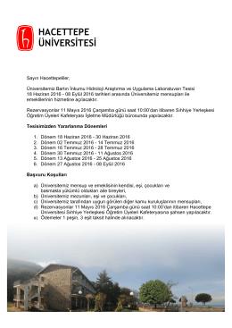 tıklayınız - Hacettepe Üniversitesi