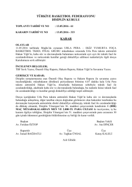 karar 333 urla pera – ekiz yumurta foça basketbol tkb2l final