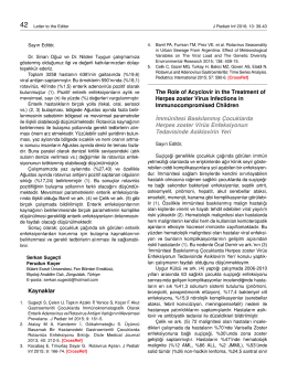 Full Text  - Çocuk Enfeksiyon Dergisi