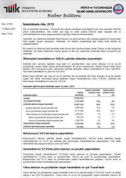 İstatistiklerle Aile-(2015