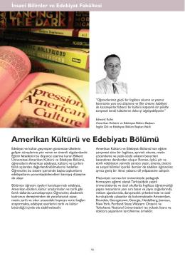 Amerikan Kültürü ve Edebiyatı Bölümü
