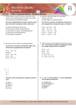 12 Mantık Yaprak test 11. test.indd