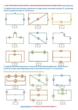 7. Sınıf Fen Bilimleri Ampullerin Bağlanma Şekilleri