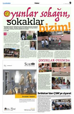 çocuklar oyunda - Gazete Kadıköy