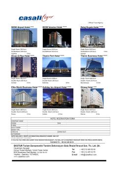 hotel reservatıon form