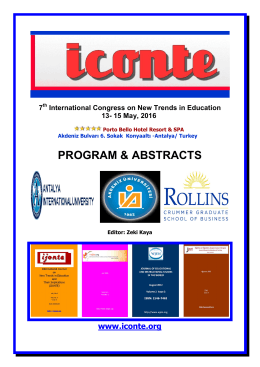 ıconte 2016 program & abstracts - International Conference on New