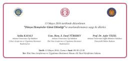 davetiye - Ankara Üniversitesi Tıp Fakültesi