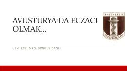 uzm. ecz. songül danlı - Marmara Üniversitesi