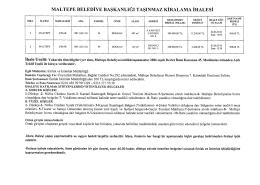 maltepe belediye başkanlığı taşınmaz kiralama ihalesi
