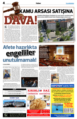 KASEV Vakfı - Gazete Kadıköy