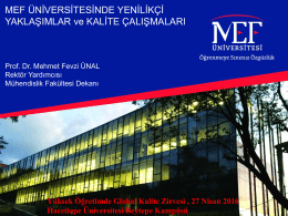 Flipped Classroom - İstanbul Üniversitesi