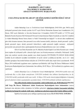 ceza infaz kurumları 657 4/b sözleşmeli şoför