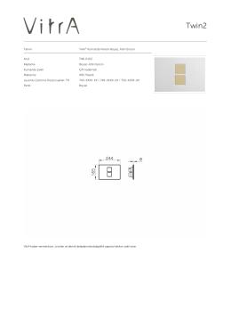 Tanım Twin² Kumanda Paneli-Beyaz, Altın Buton Kod 748