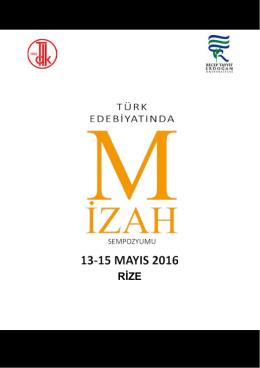 Sempozyum Programı - Recep Tayyip Erdoğan Üniversitesi