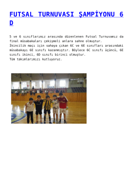 futsal turnuvası şampiyonu 6 d